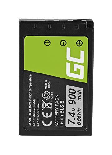 Green Cell® BLS-1 BLS-5 BLS-50 Batería para Olympus E-400 420 450 600 620 M10 Mark I/II/III, Pen E-P1 P2 P3 PL1 PL2 PL5 PL6 PL7 PL8 PM1 PM2 OM-D E-M10 Cámara, Full Decoded (900mAh 7.4V)