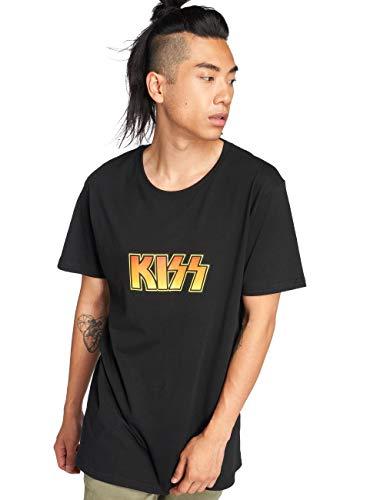 MERCHCODE Merch Código Hombre Kiss tee–Camiseta, Hombre, MC259, Negro, Extra-Large