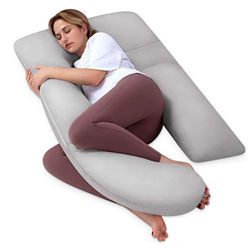 HBselect Almohada Embarazada Dormir Mejorar Sueño,Almohada Embarazo Almohada Maternidad Desmontable y Lavable para Espalda Lumbar Barriga Caderas Piernas
