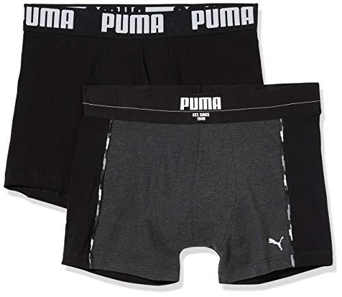 PUMA Herren Statement Boxer 2P Badehose, Schwarz (Black 200), S (2er Pack)