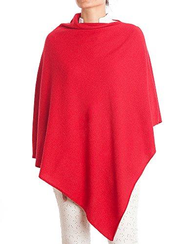 DALLE PIANE CASHMERE - Poncho aus Kaschmir-Gemisch - für Damen, Farbe: Rot, Einheitsgröße