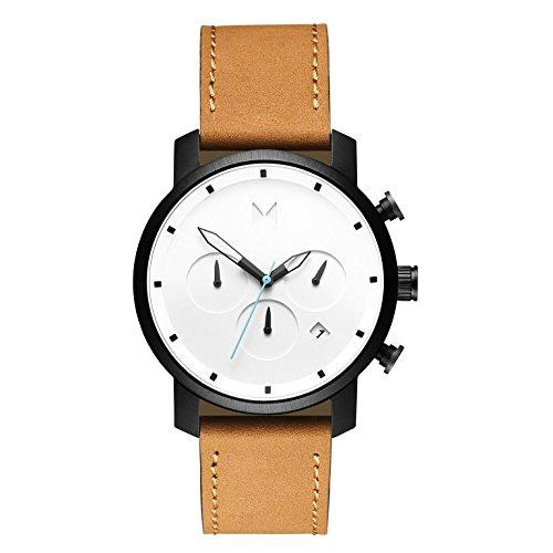 MVMT Reloj Cronógrafo para Hombre de Cuarzo con Correa en Cuero D-MC02-WBTL