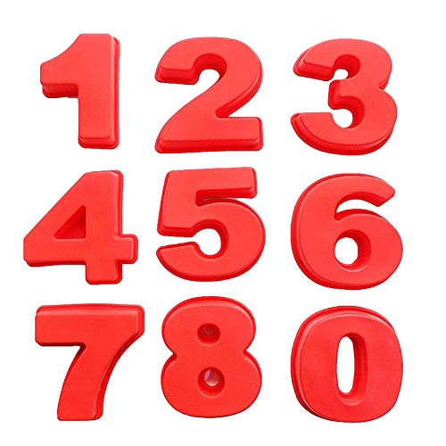XINMINGREN Kuchenform Zahlenkuchenform 0-9 Zahlen Set Backen Kuchen Formen Werkzeug Silikon-Backformen für geschichtete Zuckerguss, Kuchenform-Backformen für Geburtstag, Hochzeit, Jubiläum Party