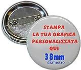 magicostore 24 Spille da 38mm Spilla SPILLETTE Pins Personalizzate con Il Tuo Logo - Grafi...