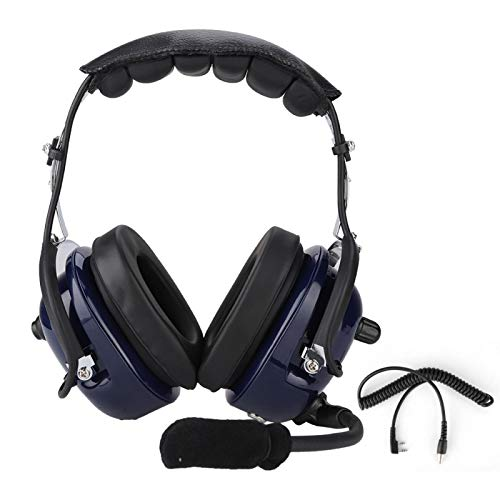 Surebuy Cable de Bobina para Auriculares de 3,5 mm para Auriculares de aviación, para radios Resistentes, para Escuchar Audio, para radios portátiles