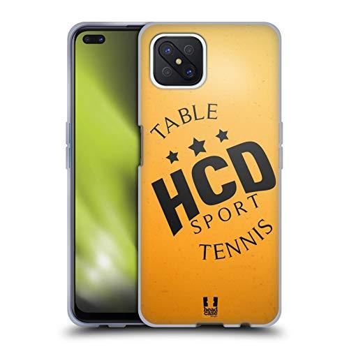 Head Case Designs Ping-Pong Colección de Bolas 2 Carcasa de Gel de Silicona Compatible con OPPO Reno4 Z 5G
