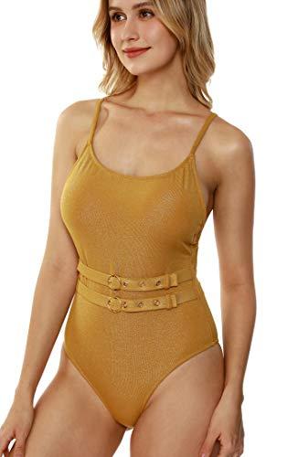 TOUSYEA Einteiliger Badeanzug für Frauen, Bauchkontrolle, Badeanzüge, Teens, Bademode, volle Abdeckung, Tankini-Badeanzüge - - Medium