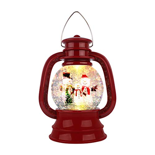 [Latest 2020] Christmas Water Glittering Snow Globe Lantern Swirling Dome, Battery Powered Festival Ornament and Gifts for Adults and Children