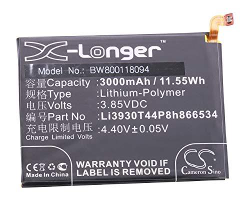 vhbw Litio polímero batería 3000mAh (3.85V) para móvil Smartphone teléfono ZTE Blade V7 MAX