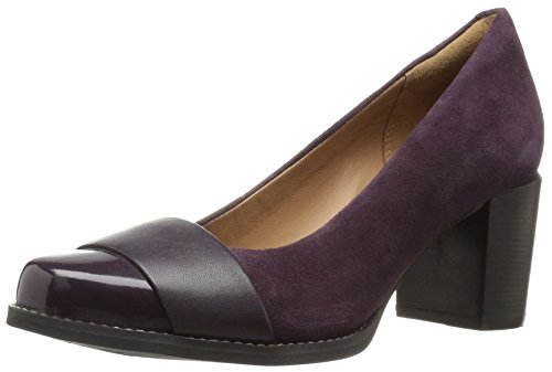 Clarks Women's Tarah Brae Dress Pump, Aubergine Combi, 6.5 M US