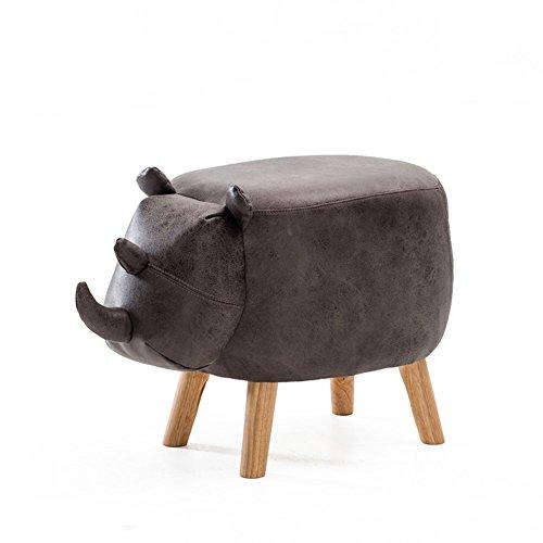 CUICI Forma Animal Otomana almacenaje, Taburete Puff Cuadrado Vivo Adorable Esponja cómoda Decoración con Patas de Madera Desmontables Bordo de Almacenamiento -B 64.5x33x41cm(25x13x16inch)