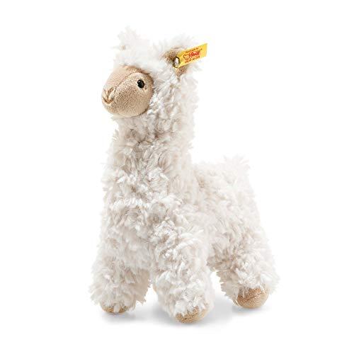 """Steiff 69444 Original Plüschtier Lama Soft Cuddly Friends Leandro, Kuscheltier ca. 14 cm, Markenplüsch Knopf im Ohr"""", Schmusefreund für Babys von Geburt an, Creme"""