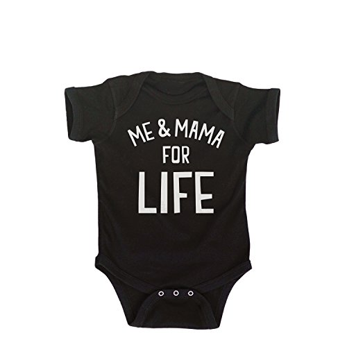 Me and Mama for Life-Infant One Piece-6M Black (Katja Kassin Mommy Blows Best)