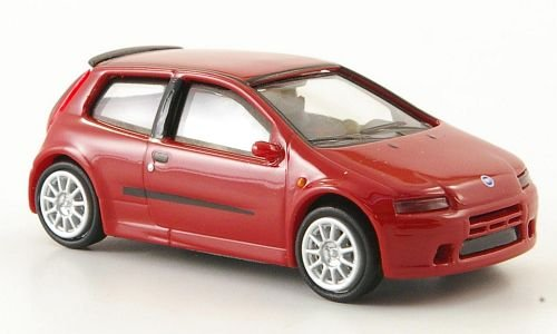 Fiat Punto, rojo , 2003, Modelo de Auto, modello completo, Ricko 1:87