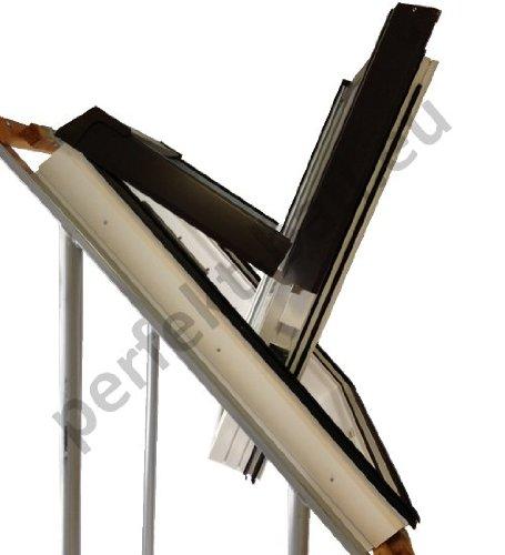 Skylight Premium Dachfenster mit Dauerlüftung PVC 78 x 140 mit Eindeckrahmen