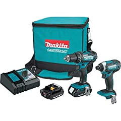 Variable 2 speed 1/2 inches Driver Drill (0-400 & 0-1,500 RPM) with Makita built 4 pole motor Variable speed impact driver (0-2,300 RPM & 0-3,200 IPM) provides 1,460 inch pounds of Max Torque and weighs only 2.8 pounds with battery 18V compact Lithiu...