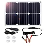 MEGSUN 18V 12V 18W Solar Car Power Battery Charger, Portable...