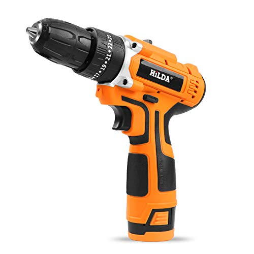 XUMI Taladro Destornillador eléctrico con la luz del Trabajo, 25+1 par, batería...