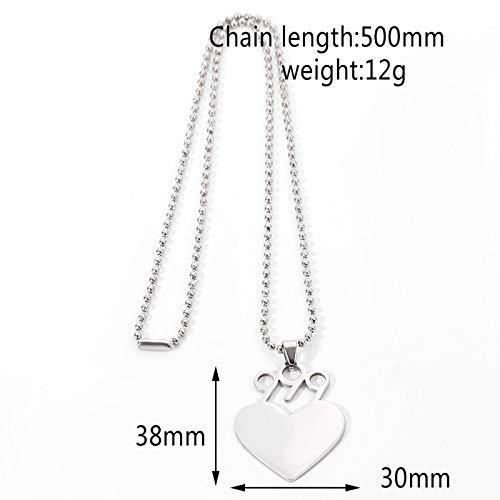 guodong Hip-Hop Herz Anhänger Rapper Saft Halskette Perlenkette Edelstahl Halsketten Geschenk Für Männer Fans Schmuck