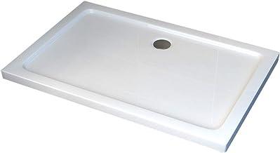 Bac /à douche 70x100 receveur de douche rectangulaire blanc acrylique Sogood Faro2 70x100x4cm bonde AL02