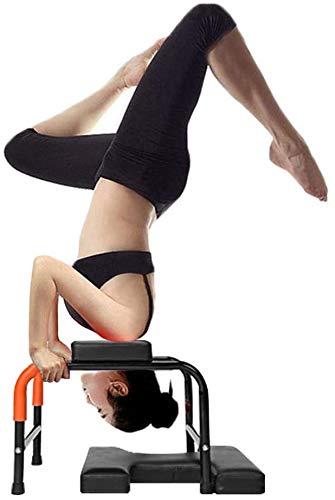 Yoga H Shape Metal Frame Headstand Bench-Stand Yoga Inversion Training Bench Ergonomic...