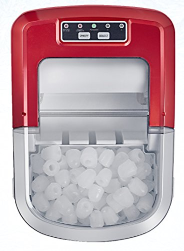 Singer HZB-12/A Machine à Glaçons, Plastique, Rouge, 24,2 x 35,8 x 32,8 cm