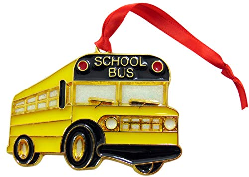 Westmon Works School Bus Driver Ornament Gift Boxed