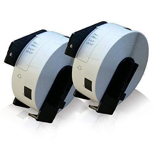 2x kompatible Etiketten-Rolle für Brother DK-11201 PTouch QL 560 VP PTouch QL 560 YX PTouch QL 570 PTouch QL 580 PTouch QL 580 N PTouch QL 650 TD PTouch QL 700 PTouch Label 29mm x 90mm Trägerspule