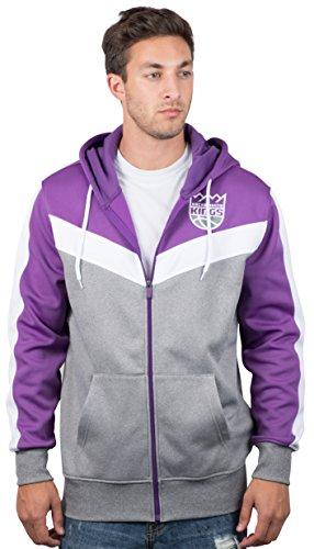 Ultra Game NBA Sacramento Kings Mens Soft Fleece Full Zip Jacket Hoodie, Team Color, XX-Large
