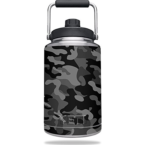 MightySkins Skin Compatible with Yeti One Gallon Jug - Black Camo | Protective, Durable, and Unique Vinyl Decal wrap Cover | Easy to Apply, Remove, and Change Styles | Made in The USA
