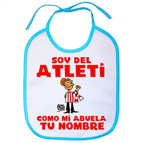 Babero soy del Atleti Atlético de Madrid como mi abuela personalizable con nombre - Celeste