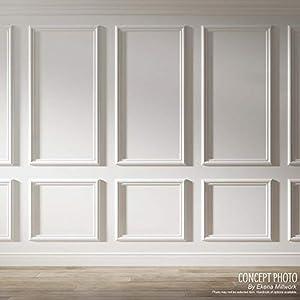 "Ekena Millwork PNL16X20AS-02 16""W x 20""H x 1/2""P Ashford Molded Scalloped Wainscot Wall Panel"