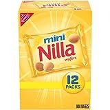 Nilla Wafers Mini Vanilla Wafer Cookies, 12 Snack Packs