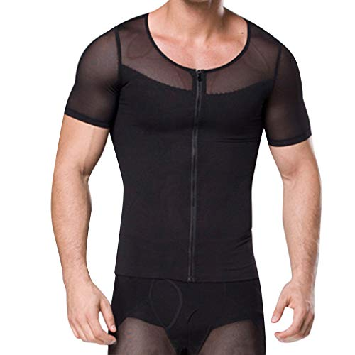 Kariwell Summer Men Quick-Dry Tops - Body-Buildings and Corsets Shaping Clothes Mans Body-Shaping Tied Waist Tops Kari-20