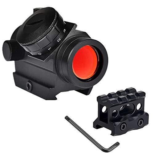WINDFIRE Mirino Micro Red DOT Sight 1X25mm Mirino Reflex, Tattico Picatinny Orbital Olografico Red DOT Mirino con 1 Pollice Riser Mount, per Fucili da Caccia