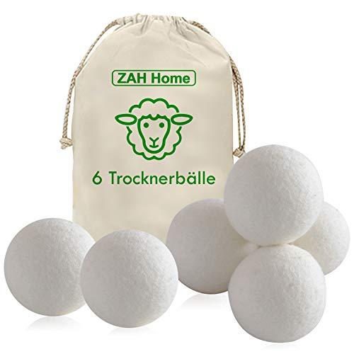ZAH XXL Trocknerbälle für Wäschetrockner. Energie und Geld sparen. Samtweiche Wäsche ohne Weichspüler. Trocknerbälle für Daunenjacken, Nachhaltige Produkte, Ökologische Geschenke, Zero Waste Produkte