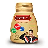 Revital H for Men with Multivitamins, Calcium, Zinc & Natural Ginseng for Daily Immunity Strong Bones, and Enhances Energy Level - 60 Capsules