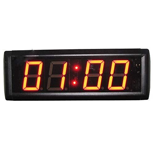 WyaengHai Countdown-Uhr Stoppuhr Countdown-Timer-Intervall EIN Großes Fitnessstudio Mit Fernbedienung Ausbildung Geeignet für Fitness-Studio Fitness (Farbe : Schwarz, Größe : 28.5X11.5X4.3CM)