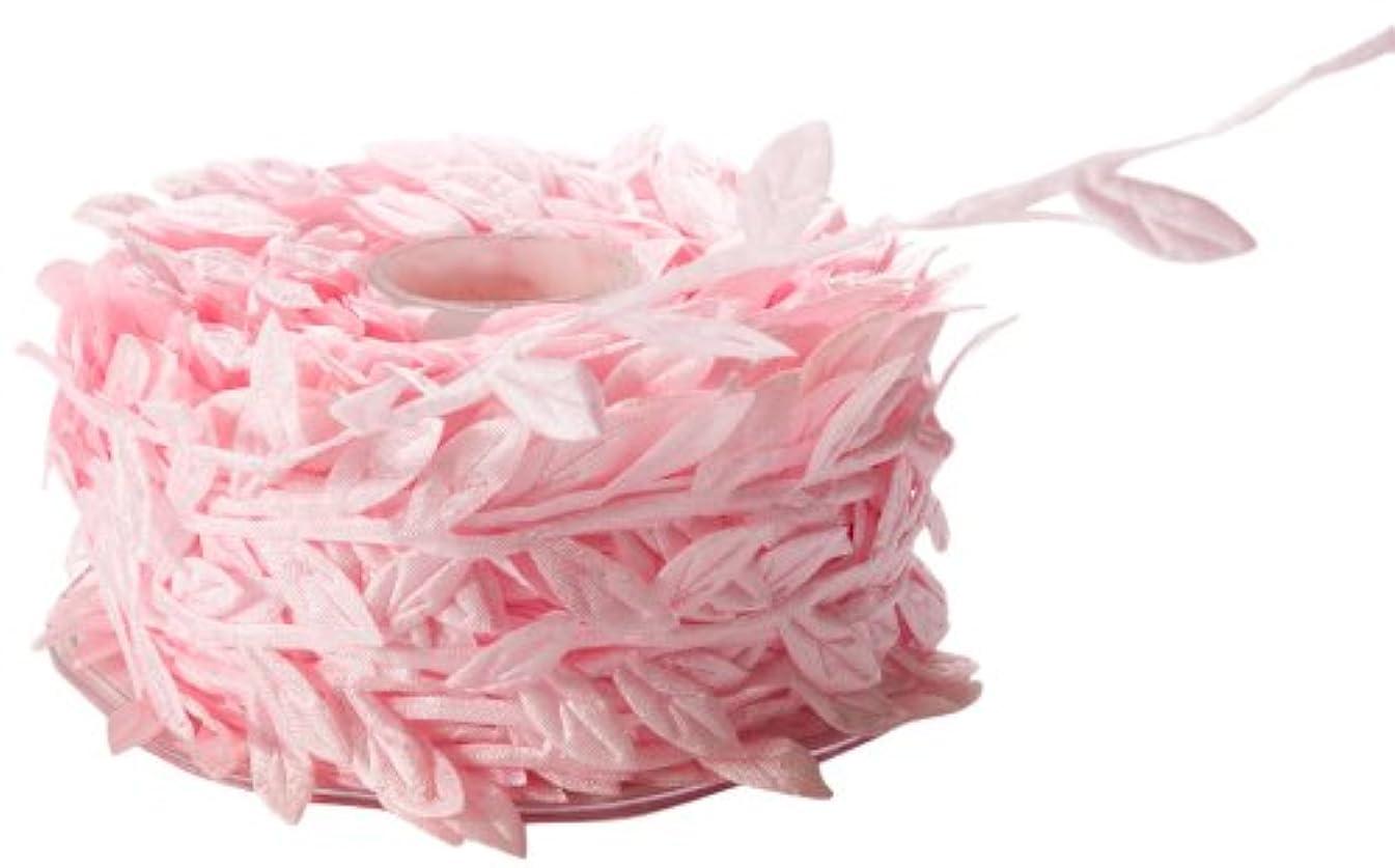 May Arts Ribbon, Pink Leaves