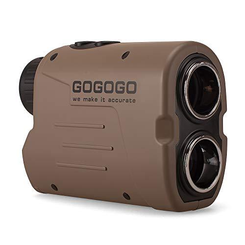 Gogogo Sport Vpro Laser Golf Hunting Rangefinder 1200 Yard 6X Magnification Laser Range Finder with Pin-Seeker Flag-Lock