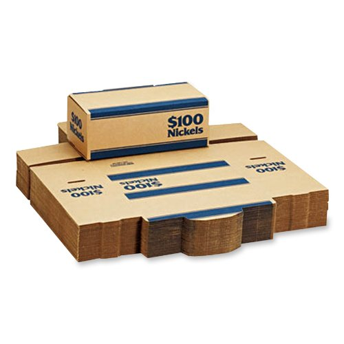 MMF Industries Pack 'N Ship Coin Transport Box, 50 per Pack (240140508),Blue
