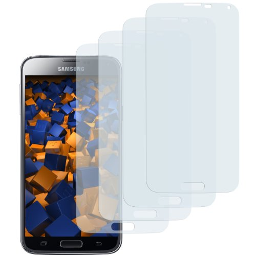 mumbi Schutzfolie kompatibel mit Samsung Galaxy S5 Folie, Galaxy S5 Neo Folie klar, Bildschirmschutzfolie (4X)
