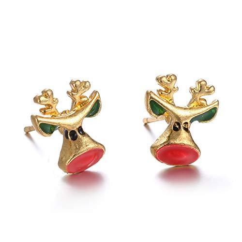 AQ89 Christmas Ear Ornaments Cartoon Christmas Earrings elk Ornament Earrings