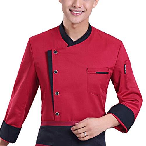 DNJKH Chaqueta de Chef, Personalizado Hotel Cocina Uniforme, Exquisito Chaqueta Cocinero