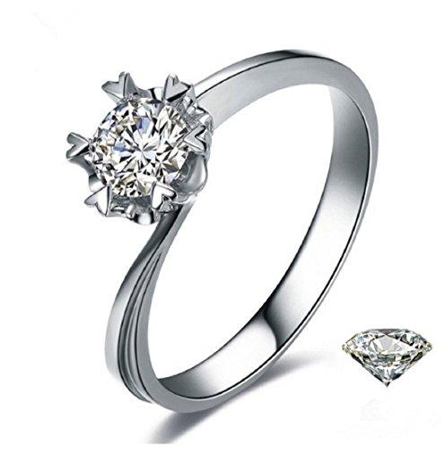 GOWE Natural anillo de diamante 18K oro boda copo de nieve romántic