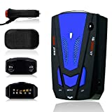 Radar Detector with LED Display for Cars, Voice Alert and Car Speed Alarm System City/Highway Mode 360 Degree Detection Radar Detectors FCC Certificate