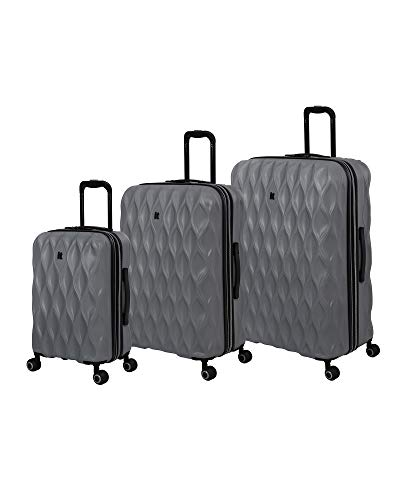 it luggage Dewdrop Hardside Expandable Spinner, Grey, 3-Piece Set (22/28/32)