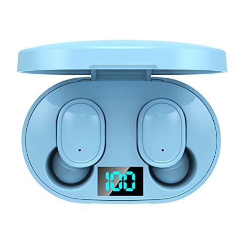 Auriculares Bluetooth V5.0 con Pantalla LED Sonido Envolvente 6D Auriculares Inalámbricos con Cancelación de Ruido Inteligente Tapones Impermeables para Los Oídos para El