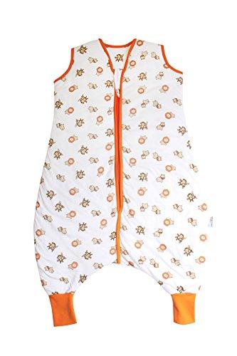 Schlummersack Schlummersack Schlafsack mit Füßen Sommer 1 Tog 120 cm dünn Wilde Tiere | Kinder Schlafsack mit Beinen und verlängerten Bündchen für eine Körpergröße 120-130cm | Schlummersack mit Füßen 1 Tog