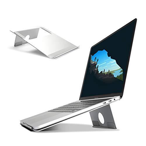 WEYO Soporte portátil de Aluminio con ventilación, Soporte Refrigerador con Silicona Antideslizante para 11-17 Pulgadas Laptop Portátil DELL, HP, Samsung, Lenovo, Apple MacBook, iPad Laptop Tabletas